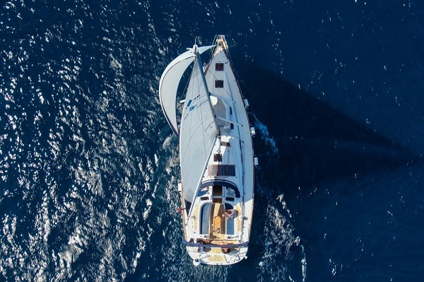 18. Bavaria 46CR - Chloe - Medsail Malta Yacht Sailing Charters - Aeriel View Under Sail