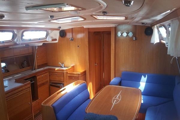 18. Bavaria 46CR - Chloe - Medsail Malta Yacht Sailing Charters - Saloon