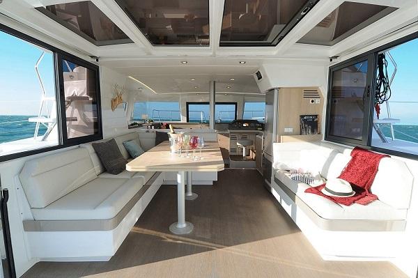 Bali 4.1 - Medsail Malta Sail Yacht Charters - Saloon