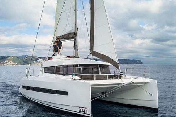 Bali 4.1 - Medsail Malta Sail Yacht Charters - Under Sail