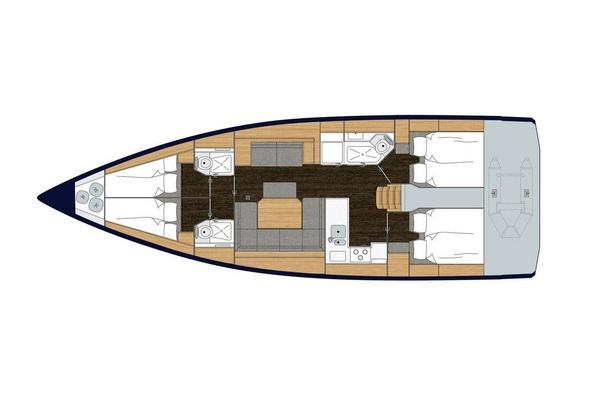 Bavaria C45 - Outlander - Medsail-Malta-Malta Charters - Layout