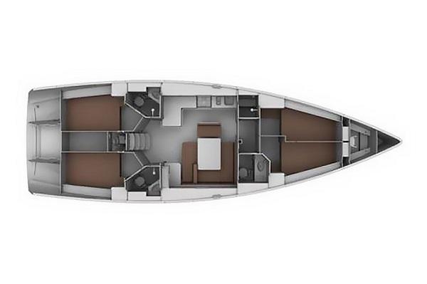 Bavaria CR45 - Moonmist - Medsail Malta Yachts Charters - Layout