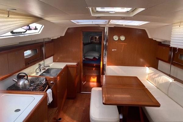 Beneteau Oceanis 40 Medsail Malta Yacht Charter Sailing Interior Saloon Galley