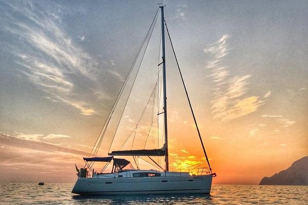 Beneteau Oceanis 40 Medsail Malta Yacht Charter Sailing Sunset