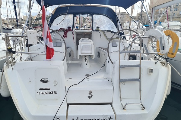 Beneteau Oceanis 43.4 - Moonspirit -Medsail Malta Yacht Charters - Stern