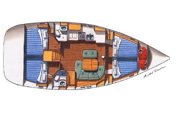 Beneteau Oceanis 473 - Solveig -Medsail-Malta- Malta Charters - Layout