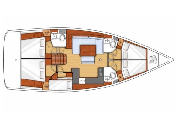 Beneteau Oceanis 48F - Wayward Prince -Medsail-Malta- Malta Charters - Layout