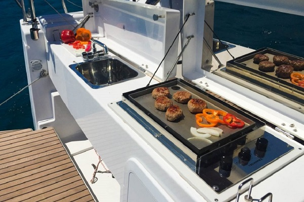 Dufour 412GL -Medsail-Malta-Perfect Candidate - BBQ Area - Malta Charters