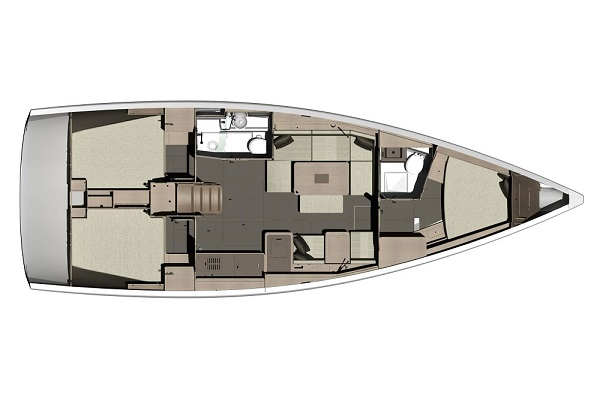 Dufour 412GL -Medsail-Malta-Perfect Candidate - Layout - Malta Charters