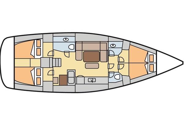 Dufour 450GL - Oscar Time - Medsail-Malta-Malta Charters - Layout