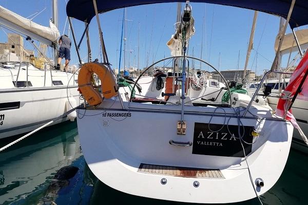 Grand Soleil 40P - Aziza -Medsail Malta Sailing Yacht Charters - Stern - Kalkara Marina
