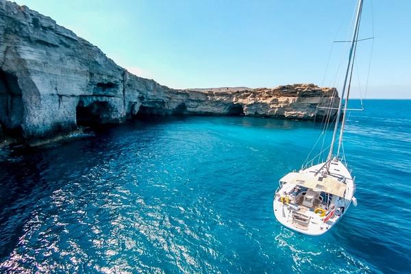 Jeanneau 53 - Big Fella Thanks - Medsail-Malta-Malta Charters - On Anchor Comino