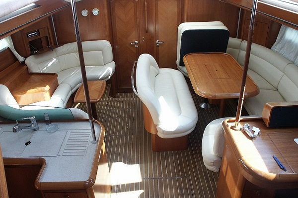 Jeanneau 54DS - Avalon - Medsail Malta - Saloon - Kalkara Marina