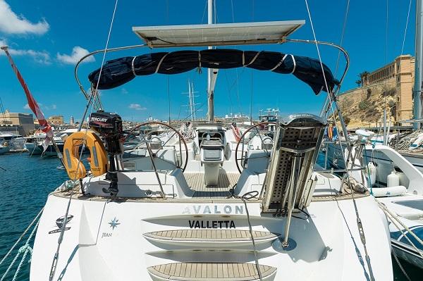 Jeanneau 54DS - Avalon - Medsail Malta - Stern